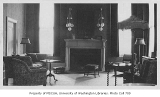 President's residence living room, University of Washington, ca. 1920