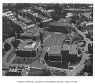 Aerial of central portion of campus, University of Washington, 1976