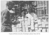 1930 Campus Day showing box lunches, University of Washington