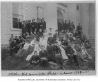 Students and  faculty outside Territorial University, ca. 1888