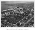Aerial of campus from the northwest, University of Washington, 1954