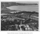 Aerial of eastern portion of the campus taken from west, University of Washington, ca. 1948