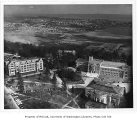 Aerial of eastern portion of campus taken from the west, University of Washington, 1955