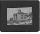 Territorial University on opening day, showing south and west sides of main building, November 4,...