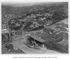 Aerial of campus from the southeast, University of Washington, 1954
