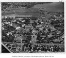 Aerial of campus from the west, University of Washington, ca. 1967