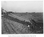 Husky Stadium under construction, University of Washington, October 19, 1920