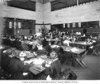 "Students eating in the ""Commons"", a dining hall, University of Washington campus,..."