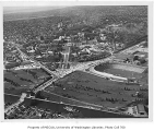 Aerial of campus from the southeast, University of Washington, n.d.