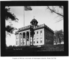Territorial University with flag flying, showing west and south sides of building, n.d.