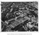 Aerial of campus from the south, University of Washington, ca. 1965