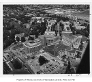Aerial of campus from the southwest, University of Washington, 1971