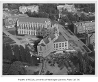 Aerial of central portion of the campus taken from west, University of Washington, ca. 1949