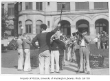 1930 Campus Day showing band playing, University of Washington
