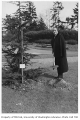 Greek representative planting tree in Consulate Grove, University of Washington, 1932