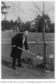 Colombian representative planting tree in Consulate Grove, University of Washington, 1932