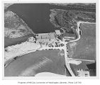 Conibear Shellhouse and playing fields, aerial view from west, University of Washington, April 14,...