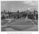 Looking north from the flagpole, University of Washington, ca. 1955