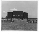 Husky Stadium scoreboard, University of Washington, August 1954
