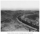 Husky Stadium under construction, University of Washington, September 1, 1920