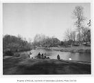 Fishermen in arboretum, University of Washington, April 7, 1959