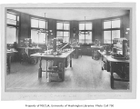 Administration Building (now Denny Hall) interior showing chemistry laboratory, University of...