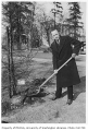 Swiss representative planting tree in Consulate Grove, University of Washington, 1932