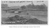 Construction work on Frosh Pond, University of Washington, December 4, 1936