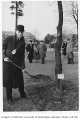 German representative planting tree in Consulate Grove, University of Washington, 1932