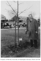 Dutch representative planting tree in Consulate Grove, University of Washington, 1932