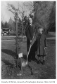 Spanish representatives planting tree in Consulate Grove, University of Washington, 1932
