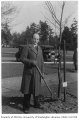 Bolivian representative planting tree in Consulate Grove, University of Washington, 1932