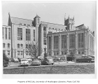 Gerberding Hall exterior showing southwest side, University of Washington, ca. 1950