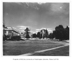 Liberal Arts Quadrangle, looking northeast, University of Washington, June 1950