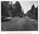 Man walking in arboretum, University of Washington, June 7, 1955