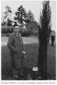 Italian representative planting tree in Consulate Grove, University of Washington, 1932