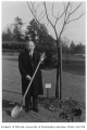 Chinese representative planting tree in Consulate Grove, University of Washington, 1932