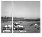 East campus parking lot and Montlake Landfill, looking southeast toward Union Bay, University of...