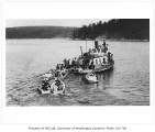 Students in boats at Friday Harbor Marine Station, University of Washington, n.d.