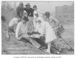1929 Campus Day showing first aid, University of Washington