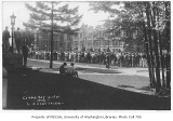 1930 Campus Day showing students gathered on quad, University of Washington
