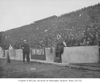 Crowd in stands at Husky Stadium, University of Washington, ca. 1925