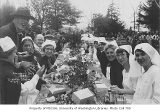 1924 Campus Day showing nurses eating lunch, University of Washington