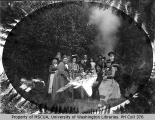 Hop-pickers' picnic at Aquarium, Vashon Island, 1893