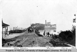 Glen Acres wharf and steamship DAILY, Vashon Island, 1916