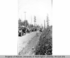 Automobile parade celebrating July 4th, Vashon, 1916
