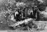 Group of men and women at a picnic, Vashon Island, 1893