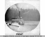 Stern wheel steamboat SKAGIT CHIEF, probably off Vashon Island, n.d.
