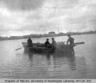 Men in rowboat, probably off Vashon Island, n.d.