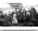 Wedding party of Margaret Sherman and Charles Van Olinda, Portage, May 21, 1901